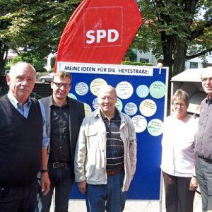 SPD vor Ort auf der Heyestraße